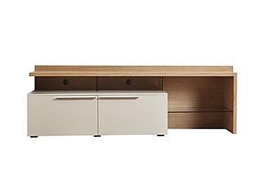Junction Medium TV Unit 160cm – Including Lights in Light Grey/Natural Oak on Furniture Village