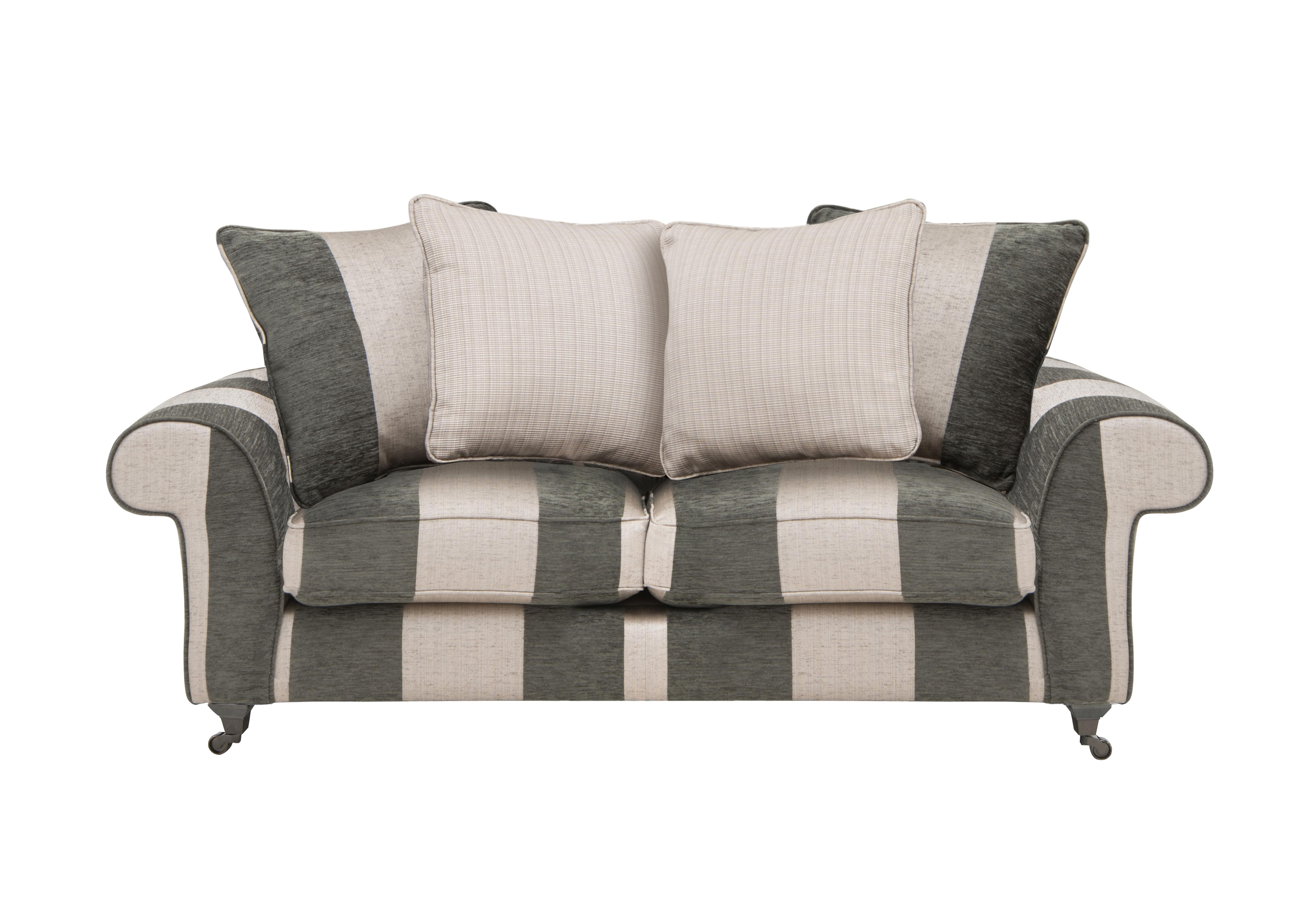 Wellington 3 Seater Pillow Back Fabric Sofa - Furniture Village