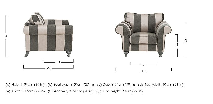 Wellington Fabric Armchair in  on Furniture Village