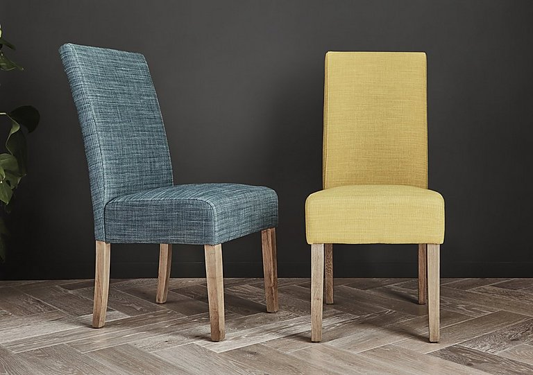 california pair of fabric dining chairs furniture village