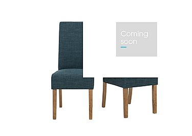 California Pair of Fabric Dining Chairs in Celadon on Furniture Village