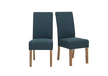 california pair of fabric dining chairs