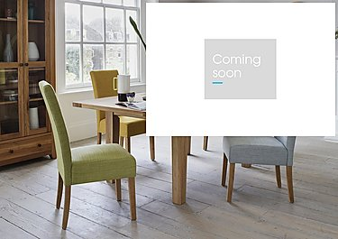 California Extending Rectangle Dining Table and 4 Fabric Dining Chairs in  on Furniture Village