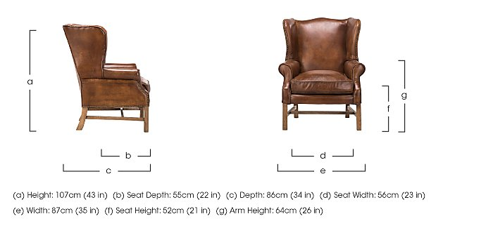Lincoln Leather Armchair in  on Furniture Village