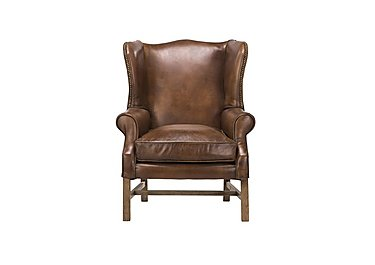 Lincoln Leather Armchair in Destroyed Raw Wo on Furniture Village
