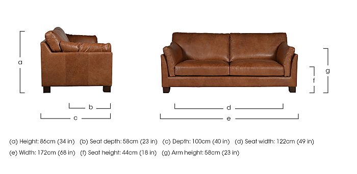 Hillcroft 2 Seater Leather Sofa in  on Furniture Village