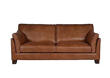 Hillcroft 2 Seater Leather Sofa in Riders Nut Ao on Furniture Village