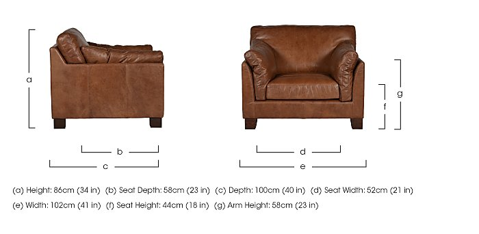 Hillcroft Leather Armchair in  on Furniture Village
