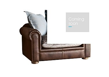 New Romance Giselle Leather Pillow Back Snuggler Armchair in Cal Original Option 1 on Furniture Village