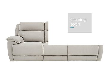 Touch 3 Seater Fabric Power Recliner Sofa - Only One Left! in Bfa-Mad-R02 Silver Grey on Furniture Village
