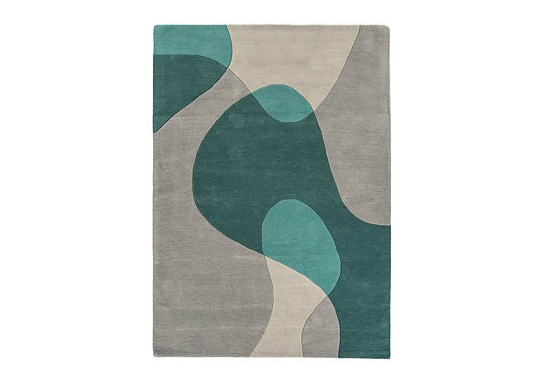 Bedford Rug Large in Arc Teal on Furniture Village
