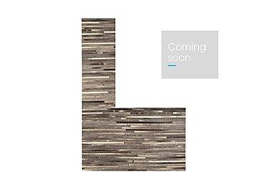 Dakota Leather/Cowhide Rug Large in Dark Grey on Furniture Village