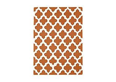Vestry Wool Rug Medium in Terracotta on Furniture Village