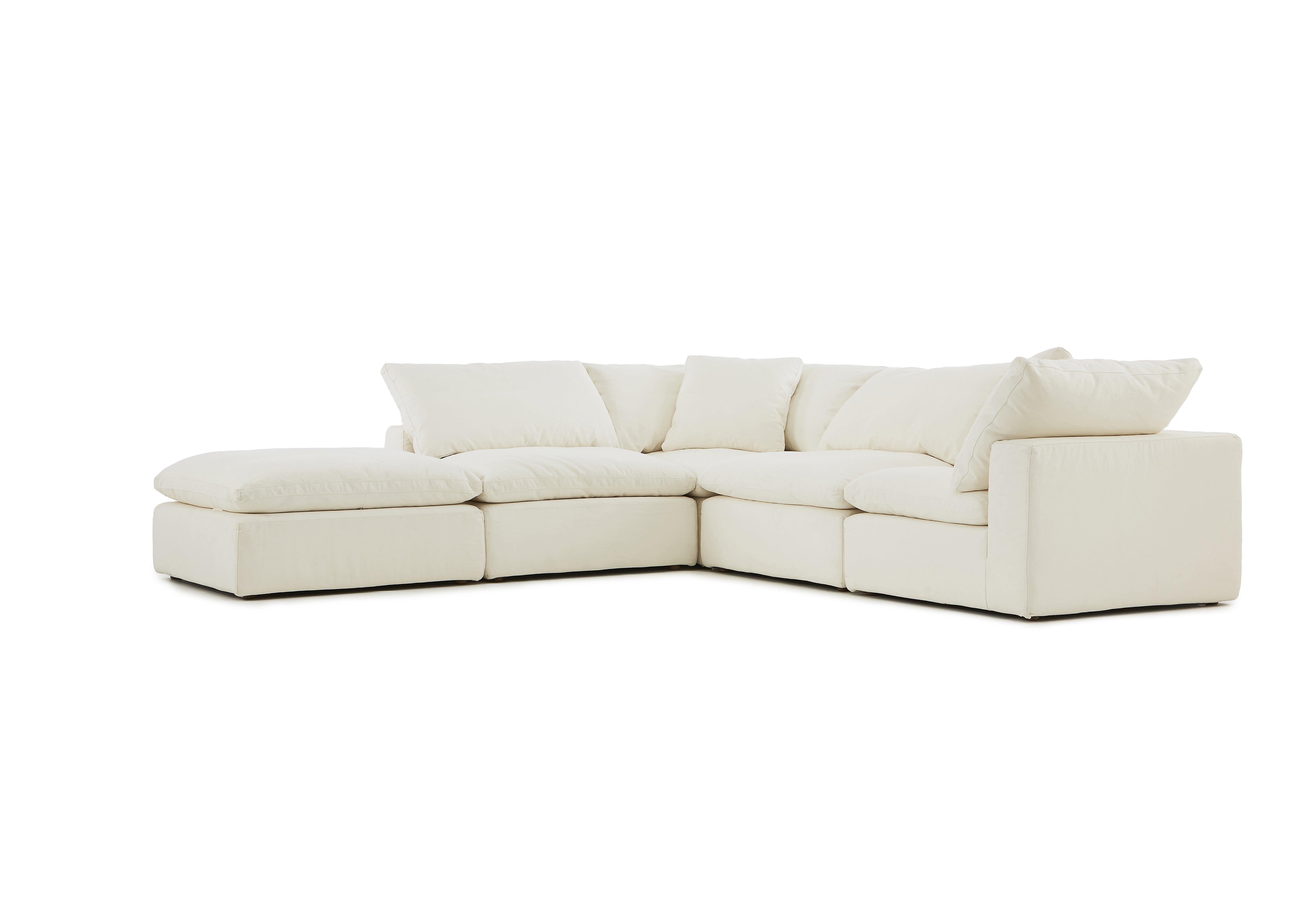 Halo Cloud Corner Sofa with Stool ly e Left Furniture Village