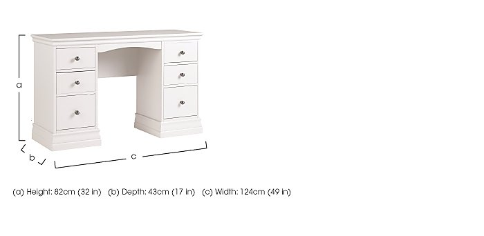 Ambriella Double Pedestal Dressing Table in  on Furniture Village