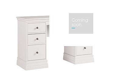 Ambriella Double Pedestal Dressing Table in Cotton on Furniture Village