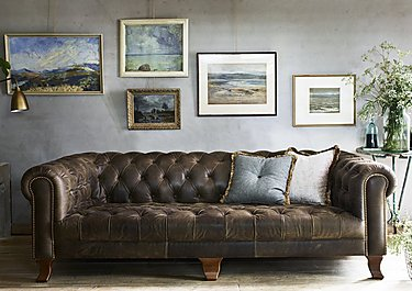 New England Hampton 4 Seater Leather Sofa in  on Furniture Village