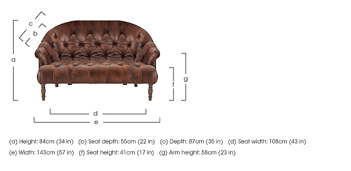 New England Nantucket 2 Seater Leather Sofa in  on Furniture Village
