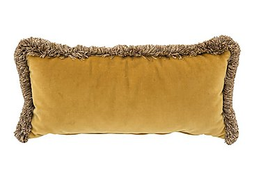 New England Nantucket Fabric Bolster Cushion in Venetian Ochre on Furniture Village