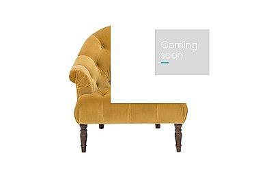 New England Nantucket Fabric Armchair in Venetian Ochre Weathered Oak on Furniture Village
