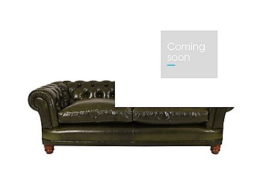 Chatsworth 4 Seater Leather Sofa - Only One Left! in Aut Lves Wint Pine Dk Mahog Ft on Furniture Village