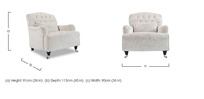 Langham Place Fabric Accent Armchair - Only One Left! in  on Furniture Village