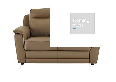 Tara 2 Seater Leather Power Recliner Sofa - Only One Left! in Torello 312 Taupe on Furniture Village