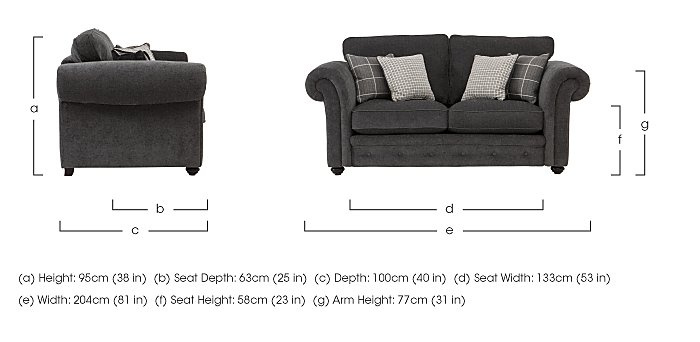 Islington 2 Seater Fabric Sofa in  on Furniture Village
