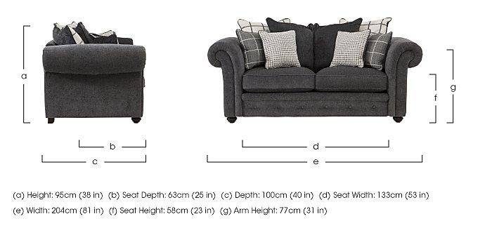 Islington 2 Seater Fabric Pillow Back Sofa in  on Furniture Village