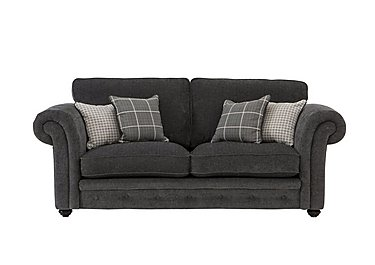Islington 3 Seater Fabric Sofa in Charcoal / Grey on Furniture Village