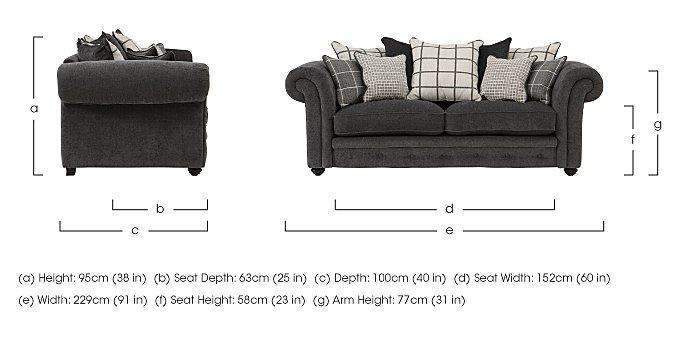 Islington 3 Seater Fabric Pillow Back Sofa in  on Furniture Village