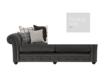 Islington 4 Seater Fabric Pillow Back Sofa in Charcoal / Grey on Furniture Village