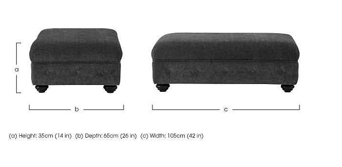 Islington Fabric Footstool in  on Furniture Village