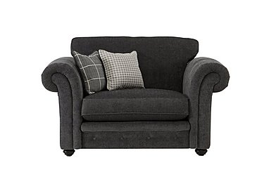 Islington Fabric Snuggler Armchair in Charcoal / Grey on Furniture Village