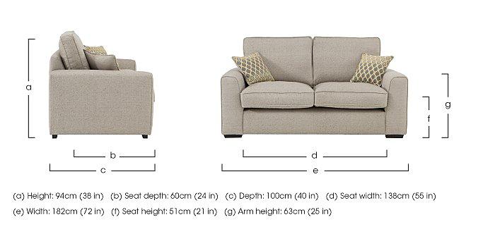 Adora 2 Seater Fabric Sofa in  on Furniture Village