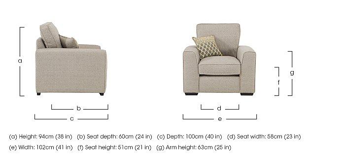 Adora Fabric Armchair in  on Furniture Village
