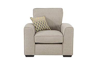 Adora Fabric Armchair in Grey on Furniture Village