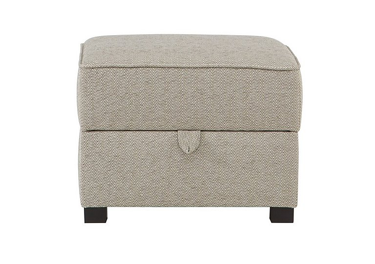 Adora Fabric Storage Footstool in Grey on Furniture Village