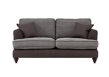 Ayr 3 Seater Fabric Sofa in Charcoal on Furniture Village