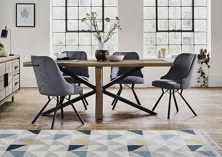 Detroit Starburst Leg Dining Table