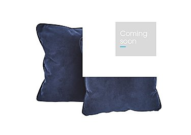 Sofia Pair of Fabric Scatter Cushions in 11 Bellagio Azure on Furniture Village