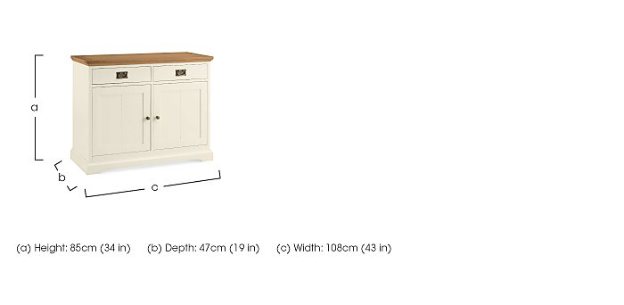 Compton Narrow Sideboard in  on Furniture Village