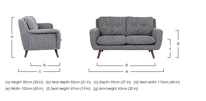 Aldo 2 Seater Fabric Sofa in  on Furniture Village