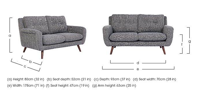 Aldo 2.5 Seater Fabric Sofa in  on Furniture Village