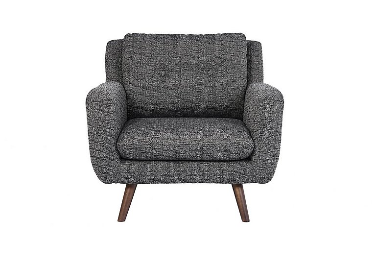 Aldo Fabric Armchair in 5344 Picasso 06 Grey on Furniture Village