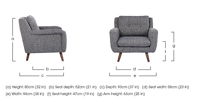 Aldo Fabric Armchair in  on Furniture Village