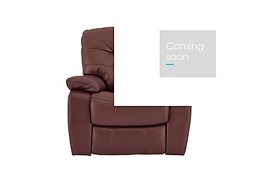 Relax Station Cozy Leather Recliner Armchair in Nc-035c Deep Red on Furniture Village