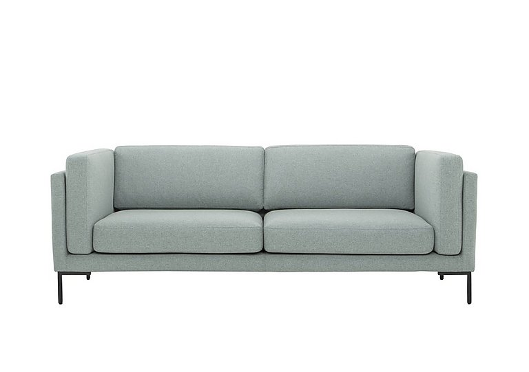 Skye 3 Seater Fabric Sofa in Sunday 45 Pigeon Blue on Furniture Village
