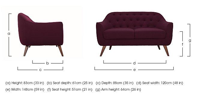 Lexi 2 Seater Fabric Sofa in  on Furniture Village