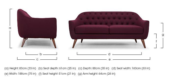 Lexi 3 Seater Fabric Sofa in  on Furniture Village